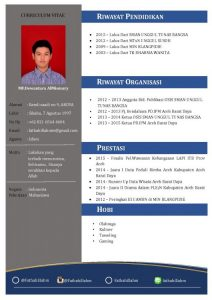 Contoh CV Fresh Graduated